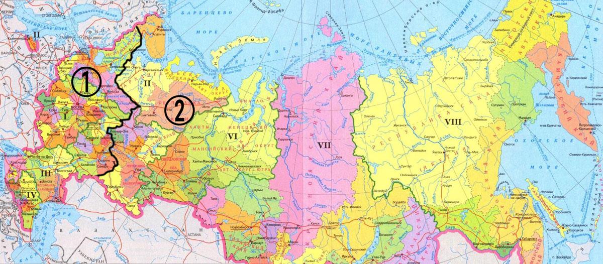 Карта регионов России
